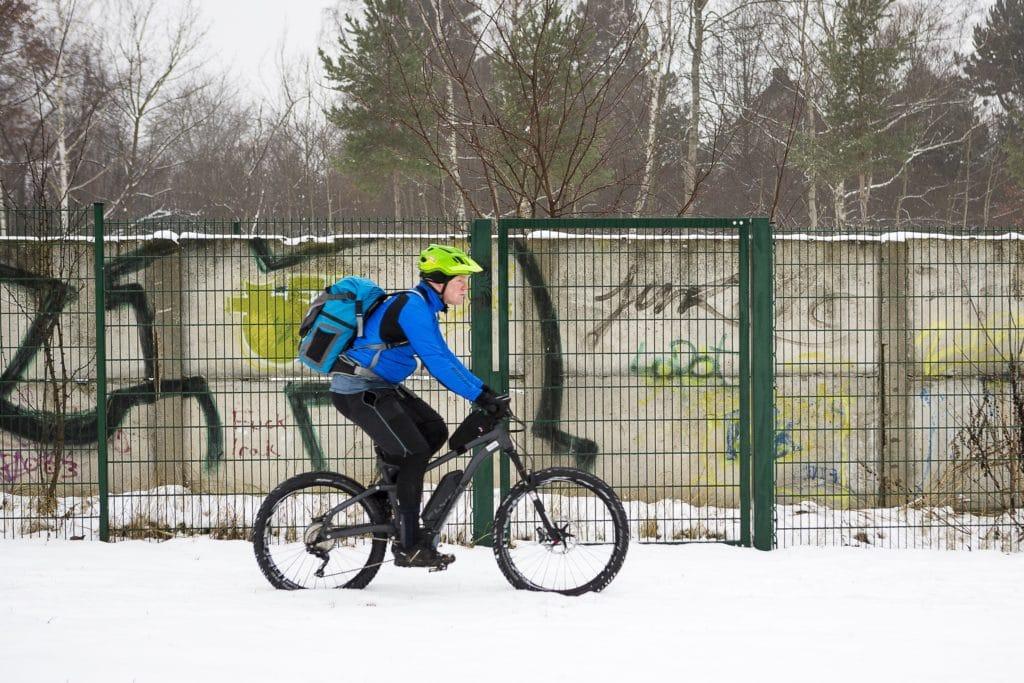 Akku im Winter Pedelec