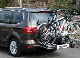 Fahrradtransport mit einem Träger