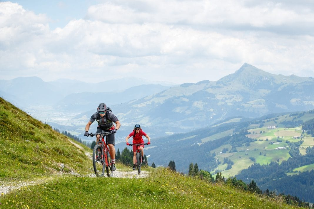 Mountainbiker im Brixental