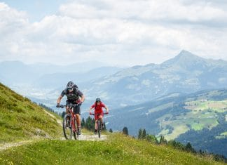 Mountainbiker im Brixental
