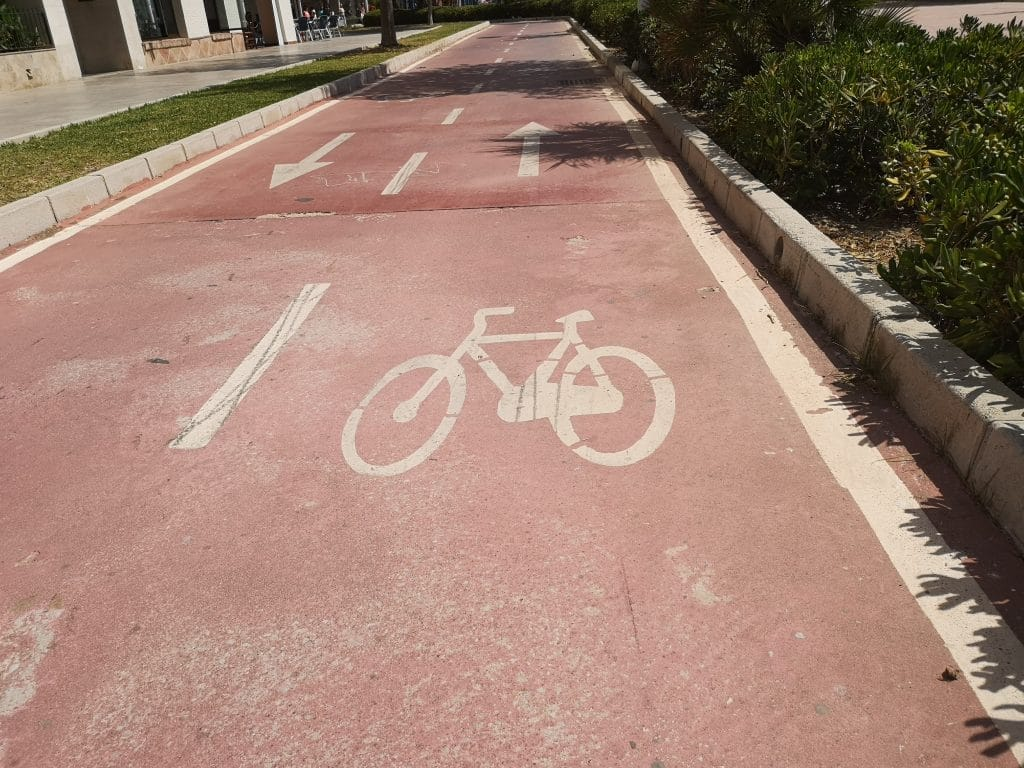 Radweg in Malaga