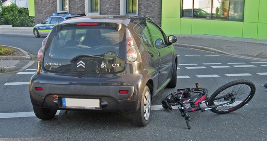 Verkehrsunfall mit E-Bike
