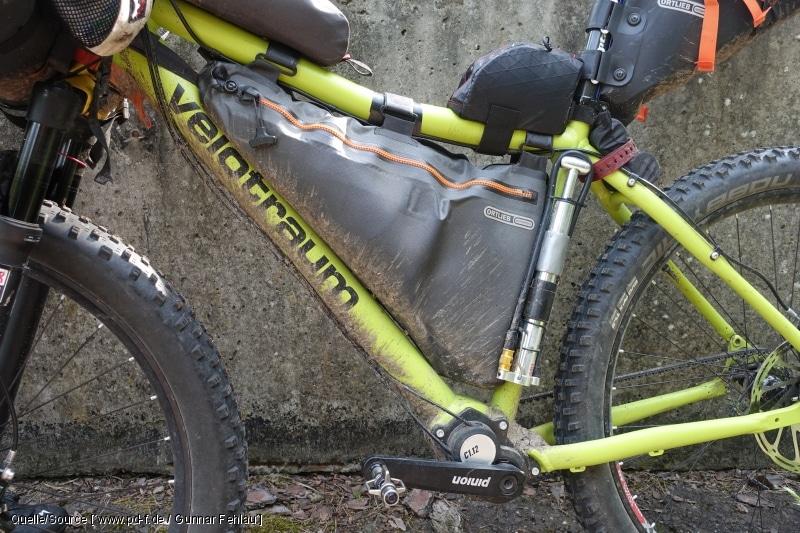 Das Bike richtig tief beladen