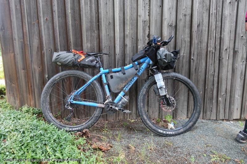 Drei Taschen für die Bikepacking-Tour