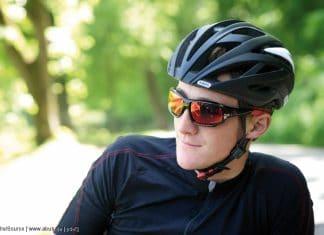 Mit Brille beim Fahrradfahren