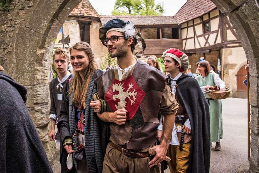 Burgfest auf der Burg Guttenberg